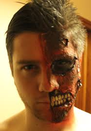 2 Face Halloween Makeup Two Face Harvey Dent Partyface