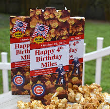 15 personalized cracker boxes baseball birthday party favors
