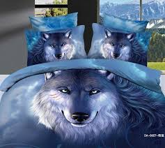 Wolf Bedding Set 3d Wolf Bedding Sets King Size 100 Cotton Fabric Quilt