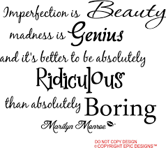 marilyn monroe imperfection is beauty madness is genius and zoom