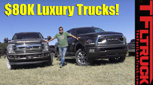 2018 ford f250 limited and 2018 ram 2500 hd limited tungsten