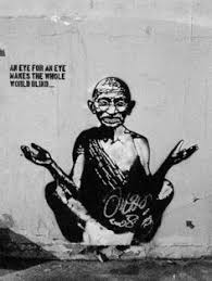 An Eye For An Eye Leaves The World Blind Notbanksy Banksy Streetart Color Ur Life Pinterest Banksy