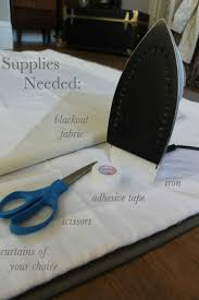 Making Blackout Curtains No Sew Diy Blackout Curtains Diy Projects Pinterest Sewing