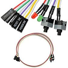 4in1 pc power reset switch hdd led cable light wire