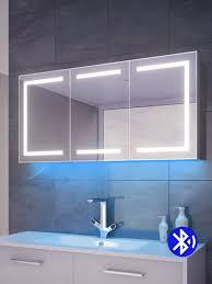 aurora rgb ambient demister cabinet bluetooth audio light mirrors