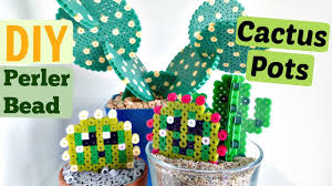 Cactus Planters by Diy Artkal Perler Bead Cactus Pots And Coasters Youtube