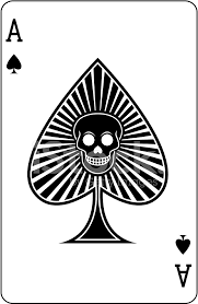 ace of spades with skull card stock vector freeimages com