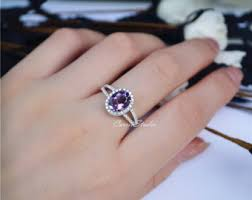 Amethyst Wedding Rings by Amethyst Ring Etsy