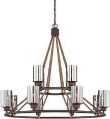 Red Chandelier by Savoy House 1 5152 12 32 Maverick Artisan Rust Ceiling Chandelier