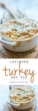 leftover thanksgiving turkey pot pie damn delicious