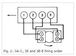 toyota tercel firing order diagrams with picture of how to do it
