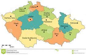 Map Of Czech Republic Moravia Stock Illustrations U2013 119 Moravia Stock Illustrations