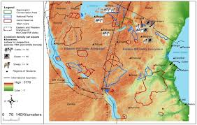 africa map great rift valley digital elevation map of tanzania and features