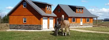 denco storage sheds bunkies cottages modular horse barns garages