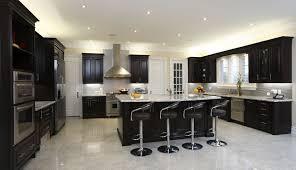 furniture spacious modern kitchen with dark cabinetry breakfast