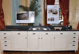 spraying kitchen cabinets