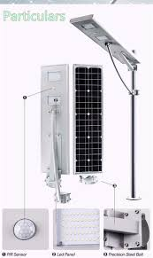 Solar Panel For Street Light by All In One Integrated Solar Panel 60w Gel Battery Powered Led