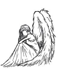 coloring page elegant drawing of an angel easy 1000 ideas about