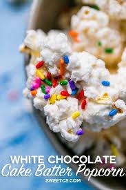 pinterest u0027teki 25 u0027den fazla en iyi cake batter popcorn fikri
