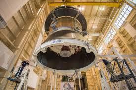 orion test hardware in position for solar array test nasa