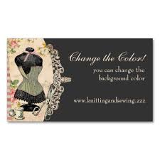 shabby chic corset scissors sewing business cards business cards
