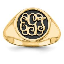 Monogram Gold Ring Monogram Jewelry Homebello
