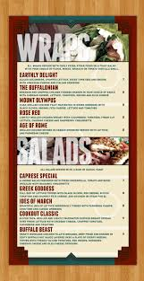 six shot studios screens restaurant u0026 sports lounge food menu design