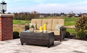 Swivel Wicker Patio Furniture by Breckenridge Tan 4 Pc Patio Furniture Set Swivel Rockers Sofa