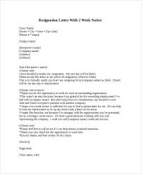 sample resignation letter 9 examples in pdf word2 week