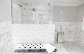 white marble subway tile design amazing bathroom white marble
