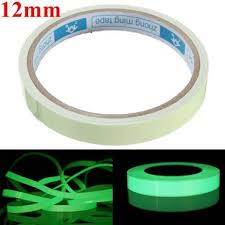 Glow In The Dark Home Decor Self Adhesive Green Luminous Tape Waterproof Photoluminescent Tape