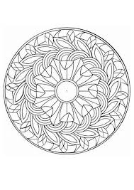 beautiful mandala coloring pages floral coloring page with flowers and natural things beautiful