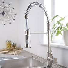 nickel faucets kitchen unique brushed nickel plated pull sprayer kitchen faucet