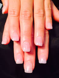 natural acrylic pink u0026 white american nails by carla