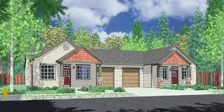 one story craftsman style homes one level duplex house plans corner lot duplex plans narrow lot