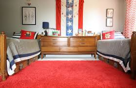 Red And Blue Boys Bedroom - red white and blue boys bedroom