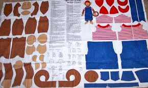 my pal monkey doll and doll clothes fabric cut out panel