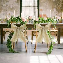 wedding chair sash buy burlap wedding chair sashes and get free shipping on