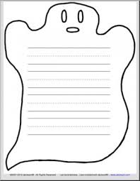 ghost themed writing paper 3 ruled lines primary abcteach