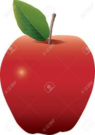 semi realistic drawing of an apple royalty free cliparts vectors