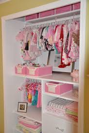 interior wonderful design of baby closet organizer with pink