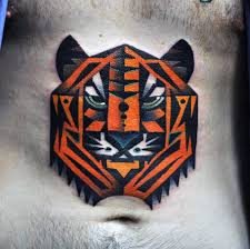 50 geometric tiger designs for striped geometry ideas