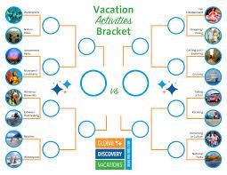 vacation activities bracket round 1