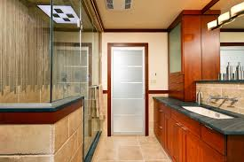 Solid Surface Cabinets Solid Surface Shower Walls Bathroom Contemporary With Blue Tile
