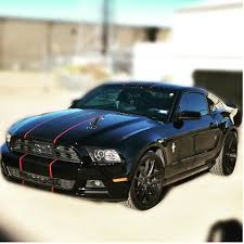 Black Mustang With Red Stripes David Or Crystal Bigwormgraphix Instagram Photos And Videos