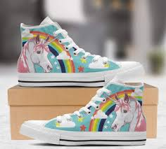 Unicorn Clothes For Girls Celeste Unicornio Arcoiris Las Mejores Converses