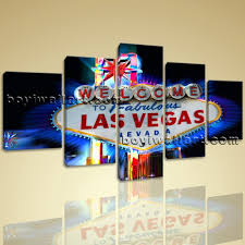 large las vegas neon sign landscape on canvas giclee print wall