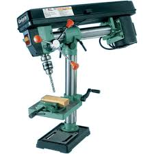 grizzly g7945 5 speed bench top radial drill press power