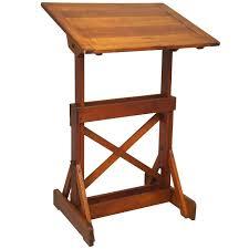 Drafting Table Wooden Drafting Table Wood 1940 S Industrial Wood Drafting Table Vintage