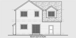 narrow lot house plans traditional tandem garage 3 bedroom bonus
